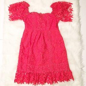 Nicole Miller Artelier doily mini dress medium